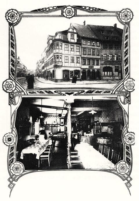 Cafe Viktoria Ecke Marktplatz/Spitalstraße ca. 1900 - es wurde bis Ende der 1920er geführt