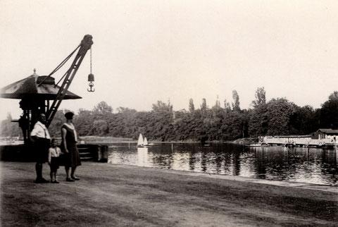 Am Main (heutige Gutermann-Promenade) ca. 1930