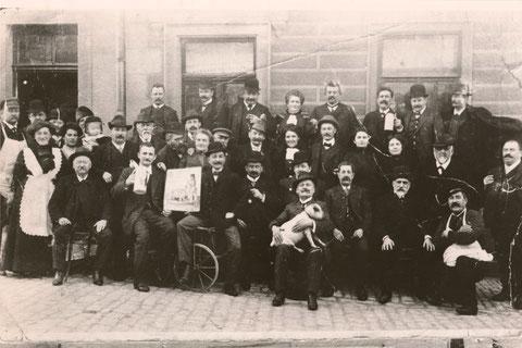 Brauereiausschank Hagenmeyer 1907 Schlachtschüssel