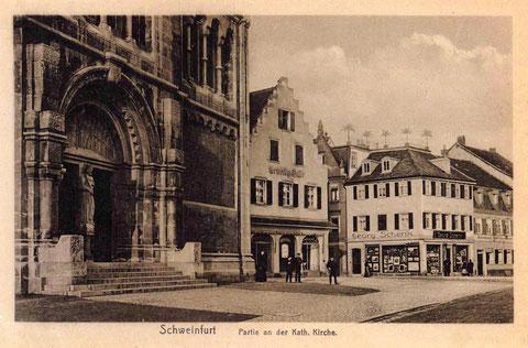 ca. 1912 - an der Hl.-Geist-Kirche in Schweinfurt