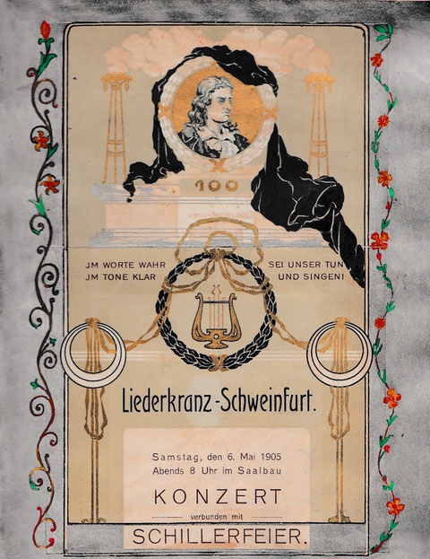 Veranstaltung des Liederkranzes im Saalbau 6. Mai 1905