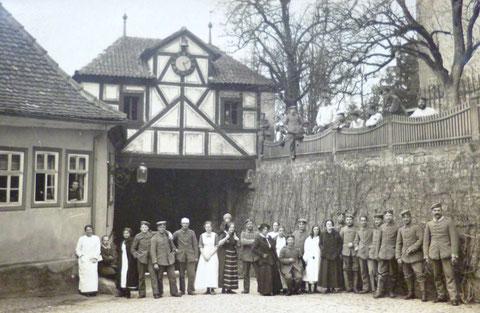 Vereinslazarett Schloß Mainberg um 1915