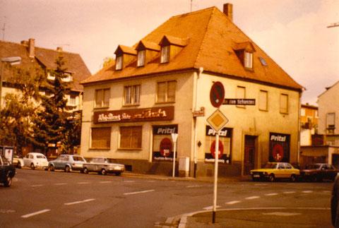 Neutorstraße Schweinfurt - 1980 - Reinigung Pritzl
