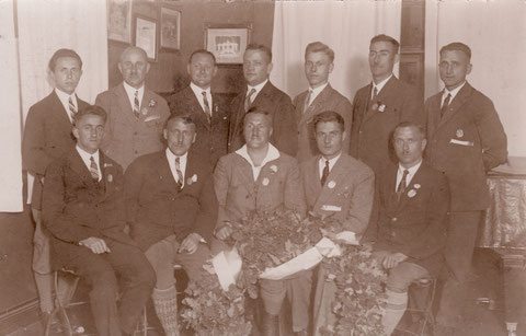 Deutsche Faustballmeister alt und jung Köln 1928