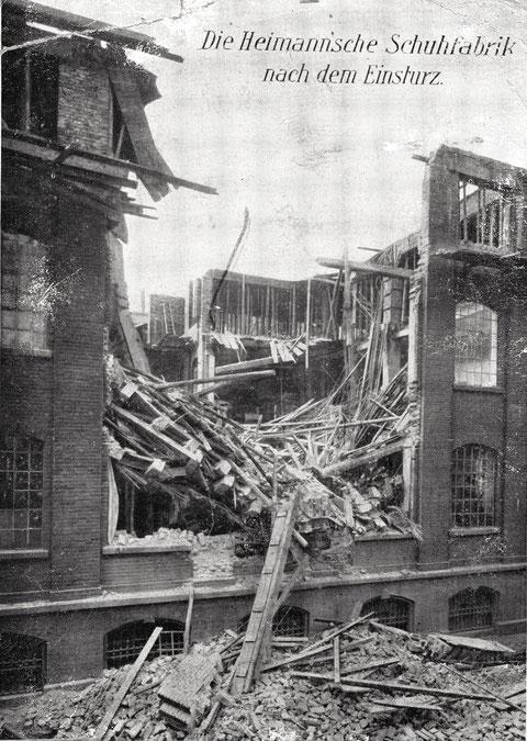 Unglück 13.06.1911 Heimann'sche Schuhfabrik