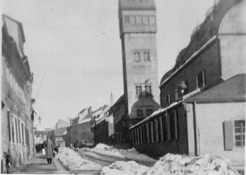 Winterlandschaft am Zeughaus in der Vorkriegszeit