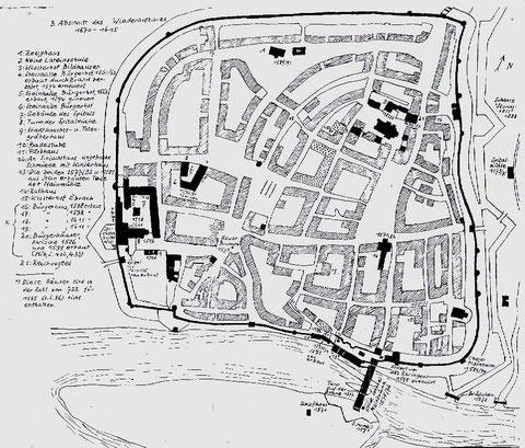 Karte zum Wiederaufbau 1570 - 1615 ....... bitte vergrößern!