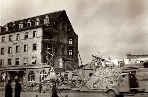 Hauptbahnhofstraße Schweinfurt um 1945