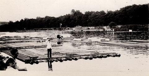Flößer am Main vor 1940