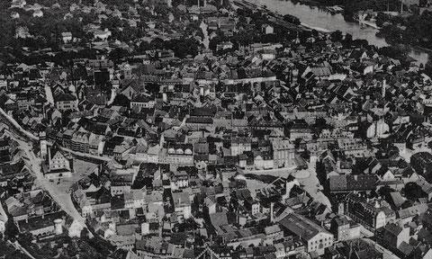 Luftaufnahme vor dem Zweiten Weltkrieg - wohl 1930er - bitte vergrößern!