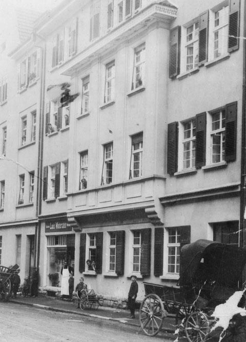 Metzgerei Louis Winterstein, Schrammstraße 11 um 1910 - Danke an Theresia Leuchs, geb. Winterstein