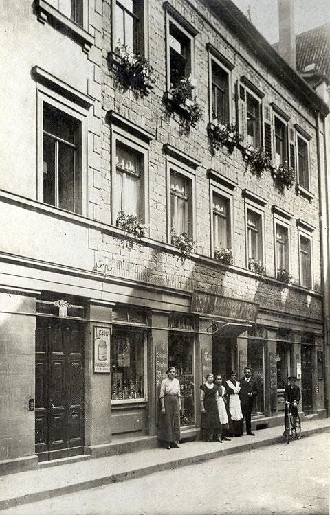 Louis Glaser Delikatessen Kesslergasse 2 vor 1918 - Danke an Peter Wiegand