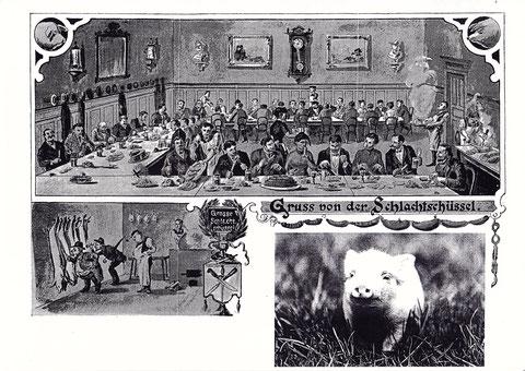 Schweinfurter Schlachtschüssel - Grußkarte