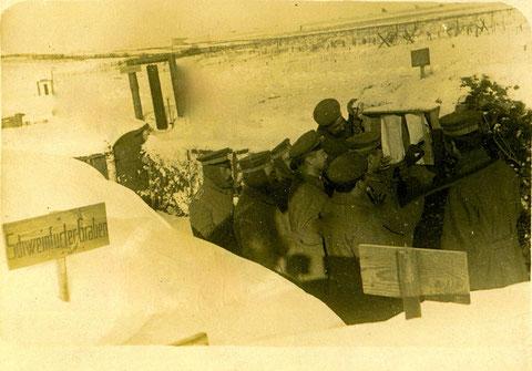 """1917 Russland 1917 - """"Schweinfurter Graben"""""""