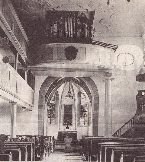 Der Innenraum vor der Beschädigung im Zweiten Weltkrieg