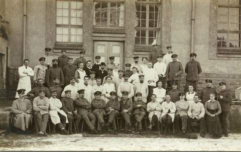 Lazarett in Schweinfurt im Ersten Weltkrieg - Danke an Marg. Kispert