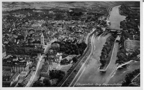 Überblick auf alter Postkarte aus dem Jahre 1935