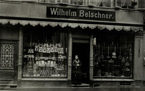 Niederwerrner Str. 6 1/2 Wilhelm Belschner, Büsten- und Pinselfabrik, ca. 1929