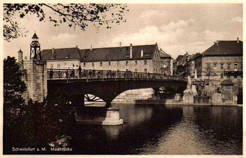 Die Maxbrücke um 1930