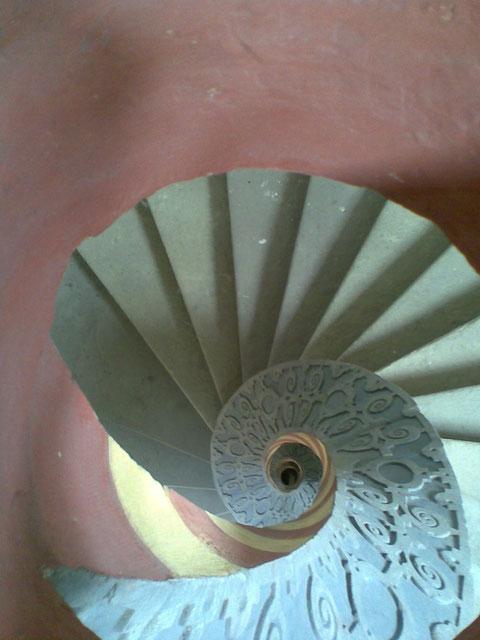 Treppe im Schrotturm