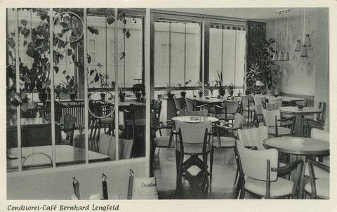 Das Café im Jahre 1956