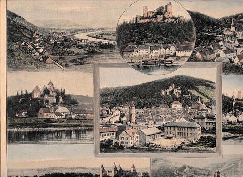 """Bildauschnitt aus """"Das Maintal"""", anonymer Künstler um 1860 - aqualrellierter Holzstich aus """"Illustrierte Welt"""""""