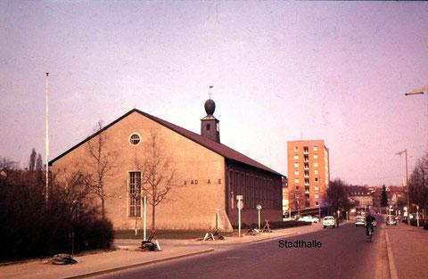 Stadthalle in den 1970ern