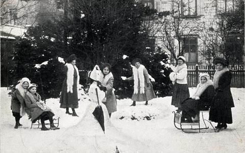 Höhere-Töchter-Schule An den Schanzen im Winter 1910/11 - Danke an Volker Winter