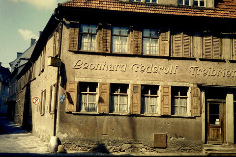 """Zehntstraße 22  links """"Am Graben"""" Ende der 1950er"""