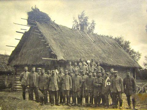 Soldaten des Königlich Bayerisches Landsturm-Infanterie-Bataillon Schweinfurt B II 19 (Datum und Ort unbekannt)