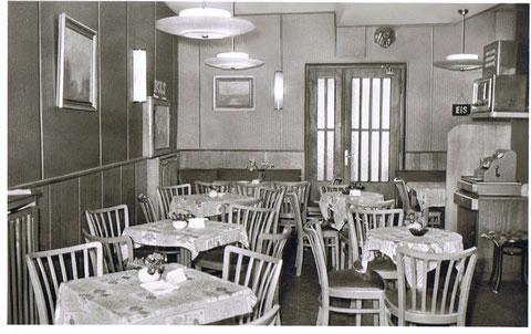 Cafe Wien in der Bauerngasse 67 im Jahre 1955