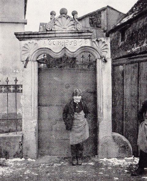 """Holzpforte mi sogenanntem """"Eselsrücken"""" - 1898"""