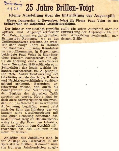 Artikel aus der Schweinfurter Zeitung vom 4. November 1944