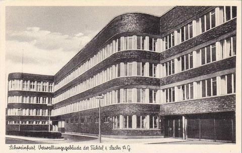 Verwaltungsgebäude F & S in den 1930ern