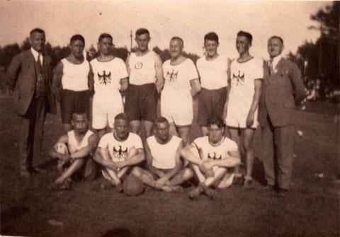 Bayer. Meisterschaft in Bamberg gegen Landshut 17:22 gewonnen 18. Juli 1926