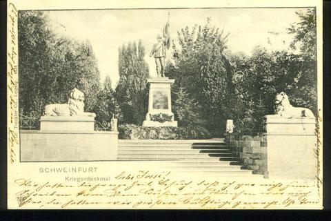 Kriegerdenkmal im Alten Friedhof an der Schultesstraße um 1900 - Danke Andreas Hedler