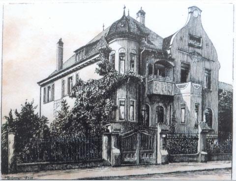 Villa E. Heimann, Gunnar-Wester-Straße 40, die sich später neben dem SKF-Verwaltungsgebäude Richtung Bahnhof befand - danke an Klaus Merkle