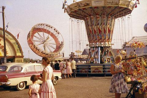 6. Juni 1959 - Schweinfurter Volksfest - das letzte Mal auf dem Bleichrasen (Maininsel)
