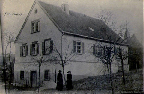 Das Pfarrhaus um 1918