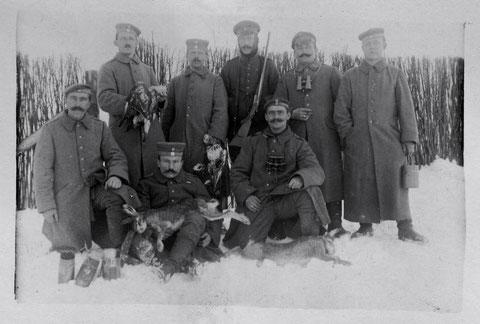 Russland, Stellung im Winter 1916/1917, siehe handschrift unten... Bat. Schweinfurt