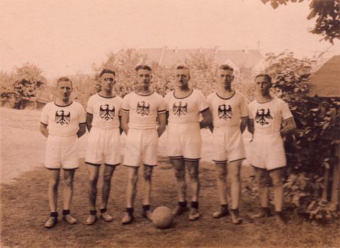 Meistermannschaft 1927 zur Erinnerung der süddeutschen in Ingolstadt