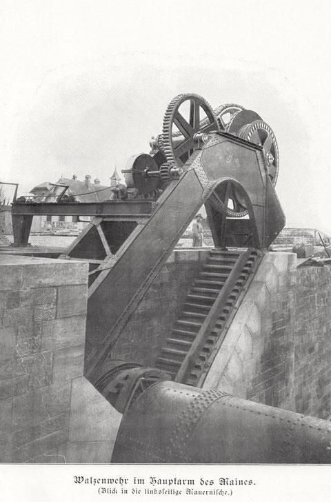 Das Walzenwehr 1903