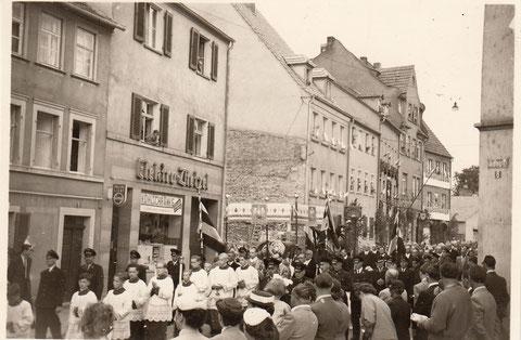 Blick vom Roßmarkt in die Wolfsgasse
