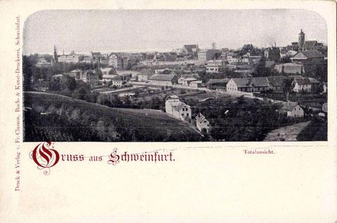 um 1900 - Schweinfurt vom Osten gesehen - bitte vergrößern