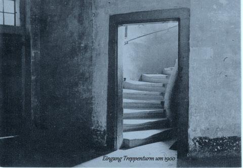 Eingang zum Treppenhaus um 1900