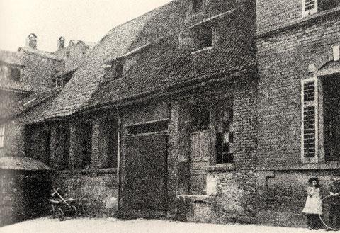 Obere Straße 8 Schweinfurt, hier befand sich die erste Werkstatt Friedrich Fischers im Anwesen seiner Eltern