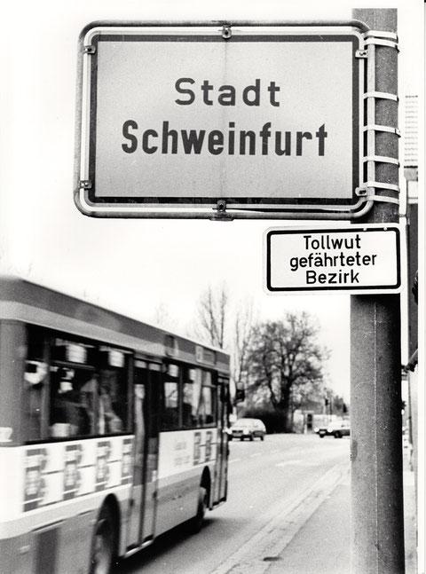 Als man sich in Schweinfurt noch nicht so recht auskannte ... mit der Rechtschreibung :-)