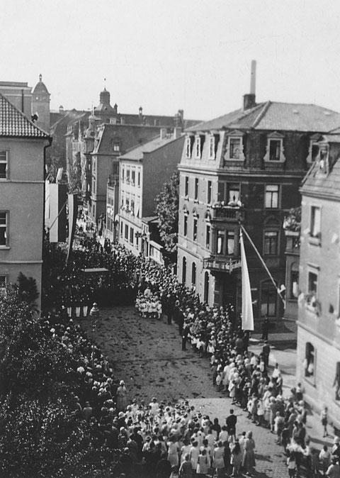 Fronleichnam 1930 - Friedenstraße