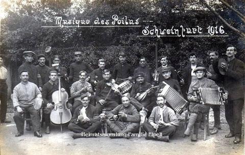 Gefangene Soldaten in Schweinfurt bilden ein Orchester - Archiv Elpelt