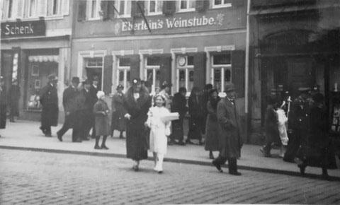 Eberleins Weinstube Schultesstraße 20 um 1940